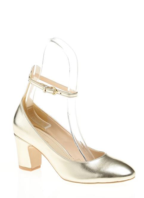 D by Divarese Kısa Topuklu Ayakkabı Altın